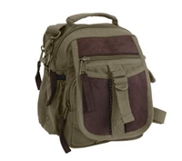 Rothco Olive Drab Canvas and Leather Travel Shoulder Bag - 2835