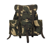 Rothco Woodland Camo Canvas Mini Alice Pack - 2897
