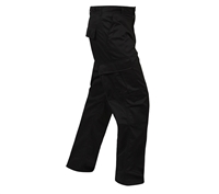 Rothco Black Relaxed Fit  Zipper Fly BDU Pants - 2971