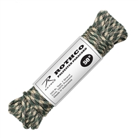 Rothco Woodland Camo 50 Foot Polyester Paracord - 30712