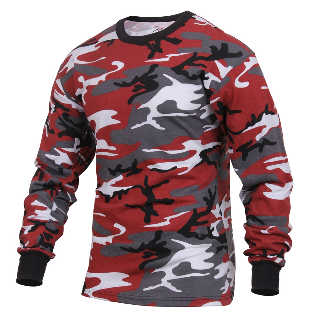 7e4a2fdd Rothco Red Camo Long Sleeve T-Shirt 3173. View Larger Photo
