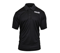 Rothco Black Police Moisture Wicking Shirt 3282