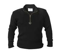 Rothco Black Acrylic Commando Sweater - 3390