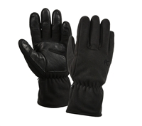 Rothco Black Micro Fleece All Weather Gloves - 3470