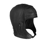Rothco WWII Style Black Leather Pilots Helmet - 3572