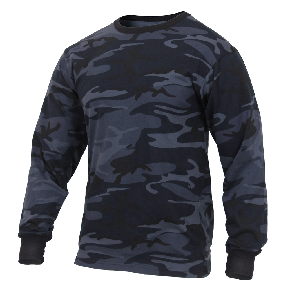 38276761 Rothco Midnight Blue Camo Long Sleeve T-Shirt 3637. View Larger Photo
