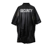 Rothco Black Security Vinyl Poncho - 3687