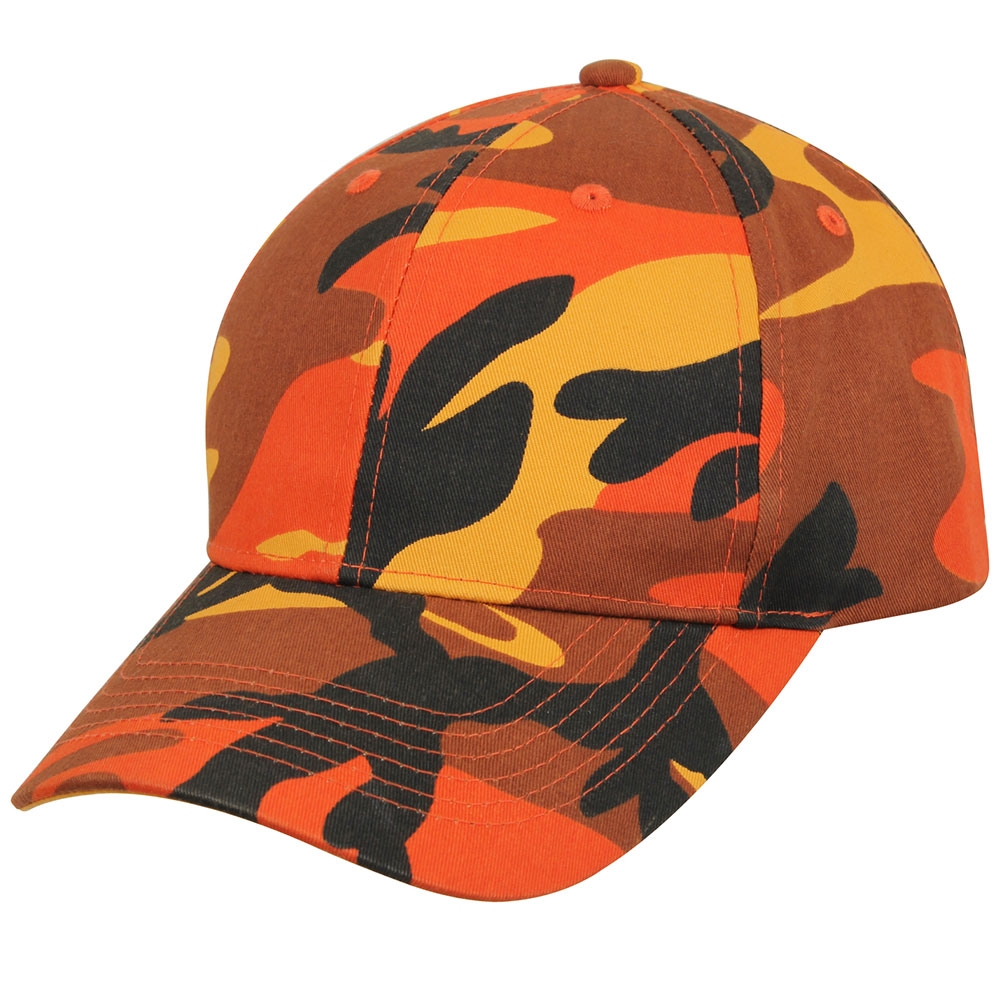 27c28c7eeee Rothco Orange Camo Low Profile Cap - 3884. View Larger Photo