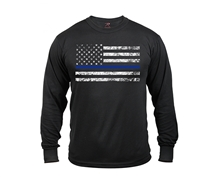 Rothco Long Sleeve Thin Blue Line T-Shirt 3925