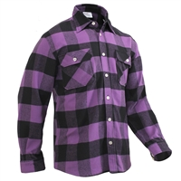 Rothco Purple Plaid Flannel Shirt 3989
