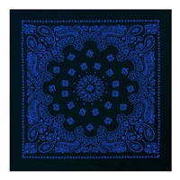 Rothco Black with Blue Print Trainmen Bandana 4044