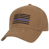 Rothco Thin Blue Line Flag Low Profile Cap 4372