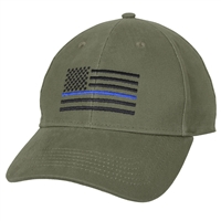 Rothco Olive Drab Thin Blue Line Low Profile Cap 4425