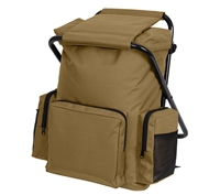 Rothco Coyote Brown Backpack Stool Combo Pack  45680