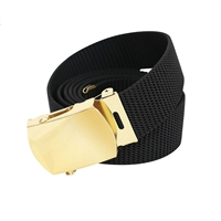 Rothco Black Nylon 54 Inch Web Belt 4624
