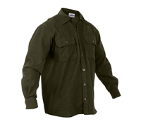 Rothco Olive Drab Solid Flannel Shirt - 4669