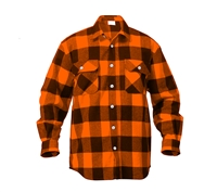 Rothco Orange Flannel Shirt - 4672