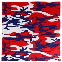 Rothco Red White and Blue Camo Bandana 4681