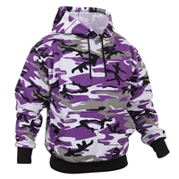 Rothco 4790 Purple Camouflage Pullover Hooded Sweatshirt