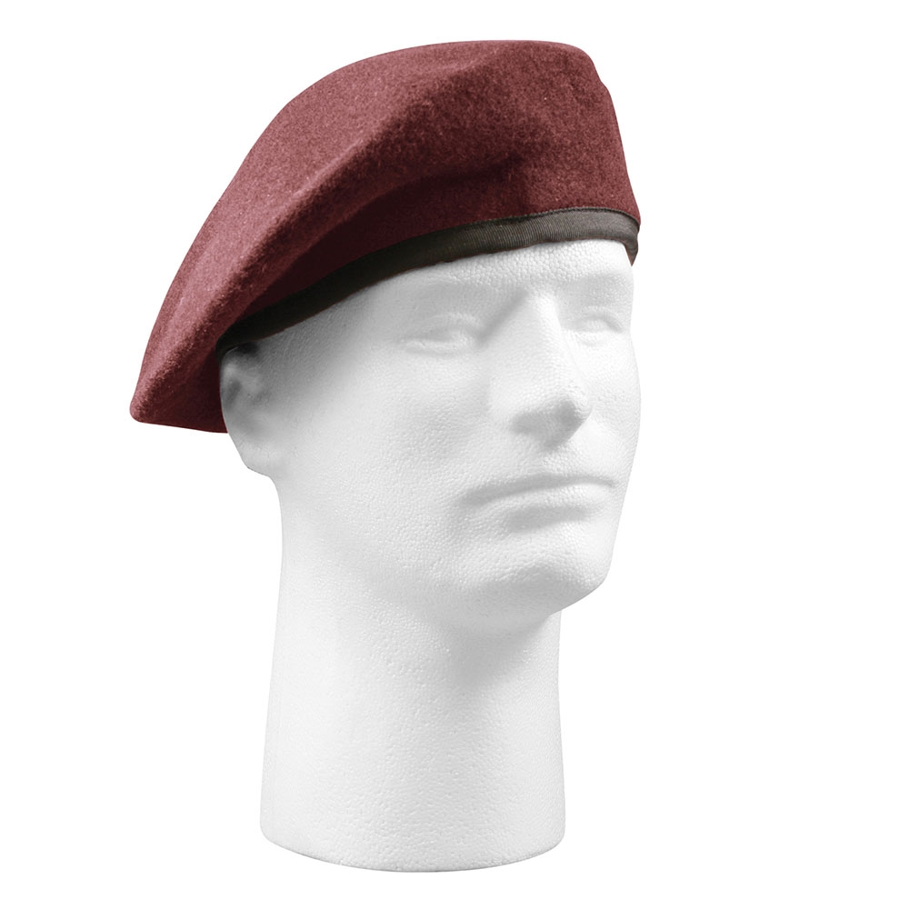 Rothco 45992 Red Wool Monty Beret 95/% Wool// 5/% Nylon