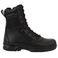 Rothco Black 8-Inch Forced Entry Side Zipper Composite Toe Tactical Boots