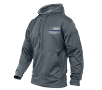 Rothco Grey Thin Blue Line Concealed Carry Hoodie 52075