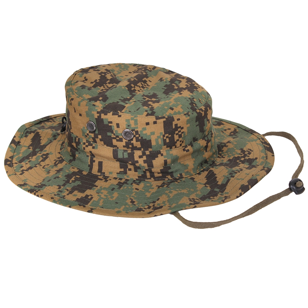 6c6c37964acd6 Rothco Woodland Camo Adjustable Boonie - 52558. View Larger Photo