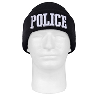 Rothco Black Embroidered Police Watch Cap - 5449