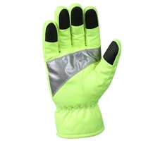Rothco Safety Green Reflective Tape Gloves - 5487