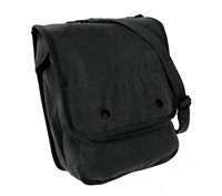 Rothco Black Canvas Map Case Shoulder Bag - 5597