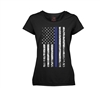 Rothco Womens Thin Blue Line Longer T-Shirt - 5688
