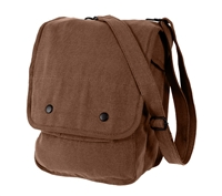 Rothco Brown Canvas Shoulder Bag - 5797
