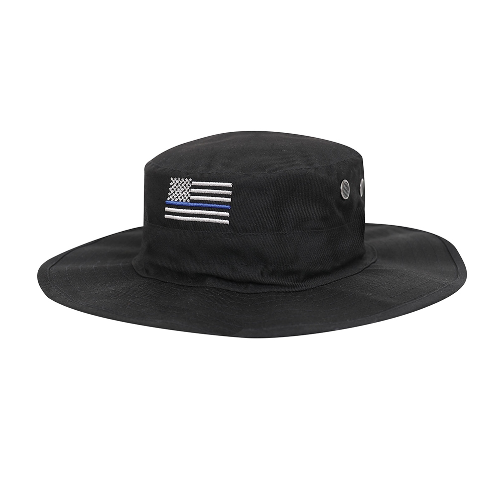aed15ff4ee1 Rothco 5917 Thin Blue Line Adjustable Boonie Hat View Larger Photo