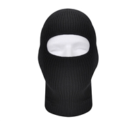 Rothco Black Fine Knit One Hole Facemask - 5969