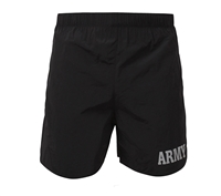 Rothco Black Physical Training PT Army Shorts - 6021