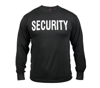 Rothco Black Long Sleeve Security Shirt - 60222