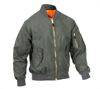 Rothco 6325 Sage Green Lightweight MA-1 Flight Jacket