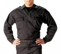 Rothco Black BDU 2-Pocket Tactical Shirt - 6350