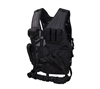 Rothco Black Oversized Cross Draw Molle Tactical Vest - 66491