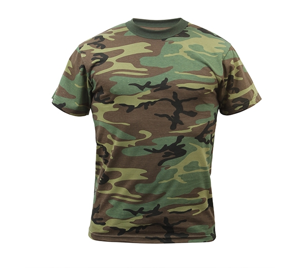 b71af6eb Rothco Kids Woodland Camouflage T-Shirt - 6703. View Larger Photo