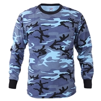 Rothco Blue Camo Long Sleeve T-Shirt - 67770
