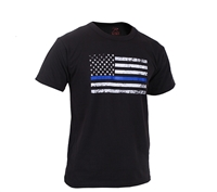 Rothco Kids Thin Blue Line US Flag T shirt 6869