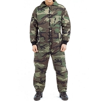 Rothco 7015 Woodland Camouflage Insulated Coveralls