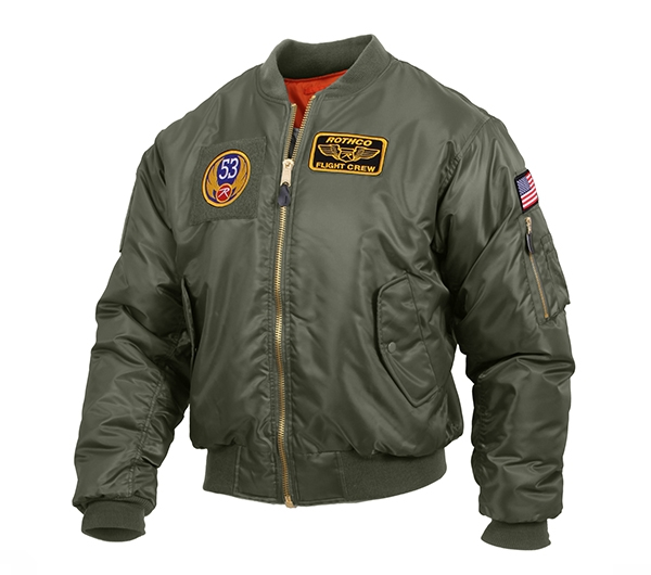 f076a3e21 Rothco Sage MA-1 Flight Jacket with Patches 7240