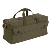 Rothco Olive Drab Canvas Jumbo Tool Bag With Brass Zipper - 7263