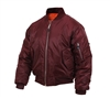 Rothco 7327 Maroon MA-1 Flight Jacket