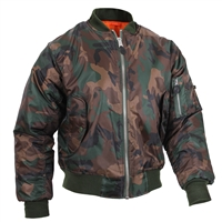 Rothco Woodland Camo MA-1 Flight Jacket 7332