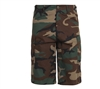 Rothco Woodland Camo Long BDU Shorts - 7765