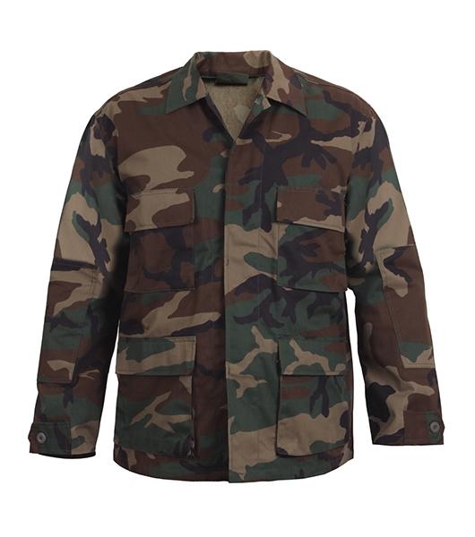 a78e01af79645 Rothco 7940 Woodland Camouflage Bdu Shirt   army navy usa