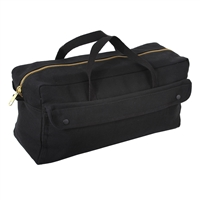 Rothco Black Canvas Jumbo Tool Bag With Brass Zipper - 8150